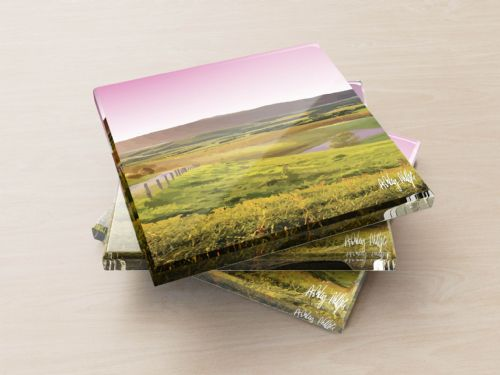 Rolling Hills Pink - Glass Coasters